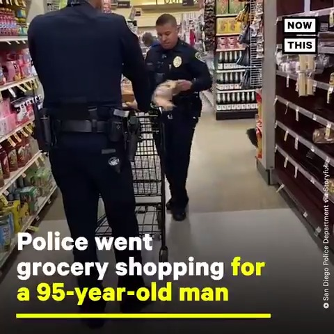 These police officers went above and beyond to get a 95-year-old man groceries