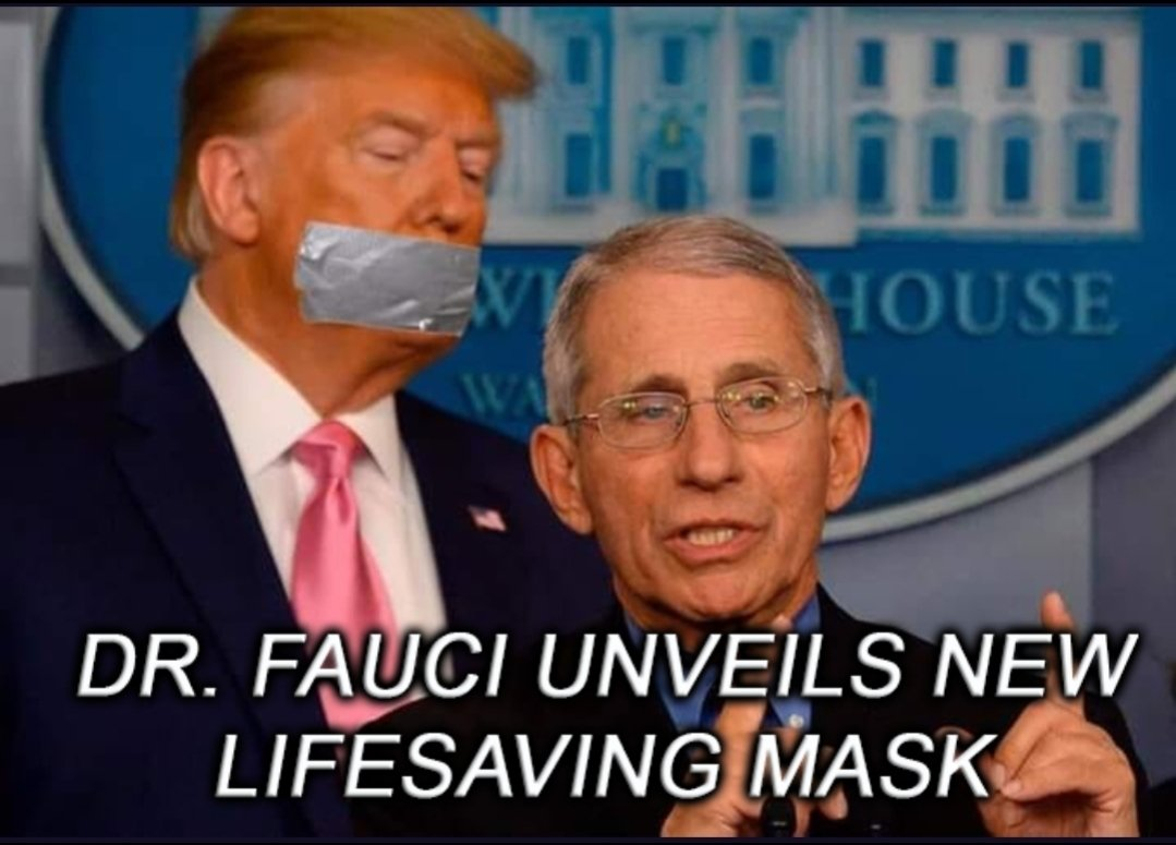 Just ONE mask, applied correctly, could save millions of lives. #TrumpMadness