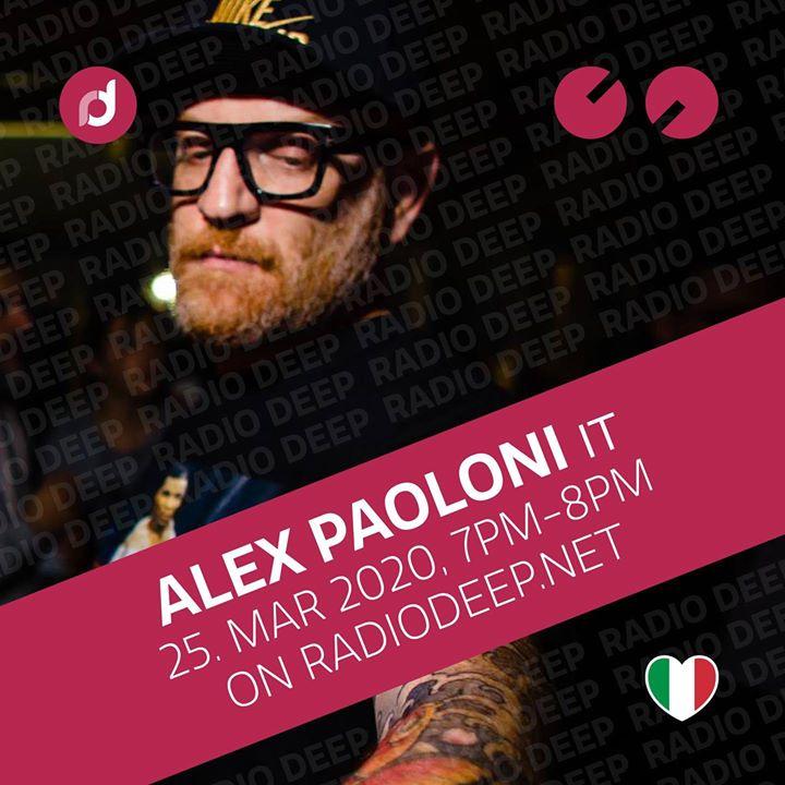 Partygroove Session w/ Alex Paoloni (IT) 7pm - 8pm on radio http://deep.net.  #radiodeep #houseradio #housemusic #radio #deephouse #welovedeep #radioshowpic.twitter.com/tIuBxg1pxz