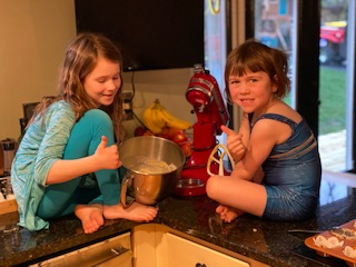 Cooking Together - Blueberry Muffins made by Caroline and Colette Duckworth!! Yummy!