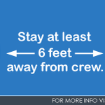 If you see our crews working in your neighborhood, wave but please stay at least six feet away. Let's work together to keep our community healthy.