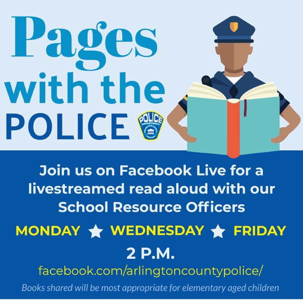 FRIDAY at 2 p.m.: Pages with the Police continues on Facebook Live! Our very own SRO, Detective Tiffanie will share one of her favorite books.   Mark your calendars and let's show her our support. See you on Friday! <a target='_blank' href='http://search.twitter.com/search?q=PhoenixFamily'><a target='_blank' href='https://twitter.com/hashtag/PhoenixFamily?src=hash'>#PhoenixFamily</a></a> <a target='_blank' href='https://t.co/nlmE4LzNlA'>https://t.co/nlmE4LzNlA</a>