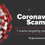Image for the Tweet beginning: 7 Coronavirus scams targeting your