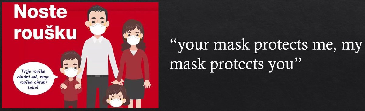 Masks aren't just about protecting the wearer. They're mainly about protecting those around you. In the Czech Republic, advertisements are used to make sure everyone understands that if you wear a mask, you're helping your community stay safe.