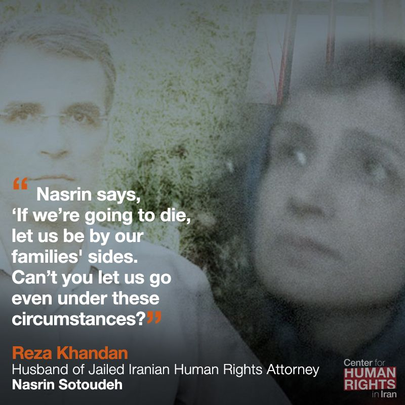 #Iran has reported mass prisoner releases yet many have been left behind and vulnerable to #coronavirus. One of them, human rights attorney Nasrin Sotoudeh, has resorted to a life-threatening hunger strike to demand freedom for all political prisoners. iranhumanrights.org/2020/03/corona…