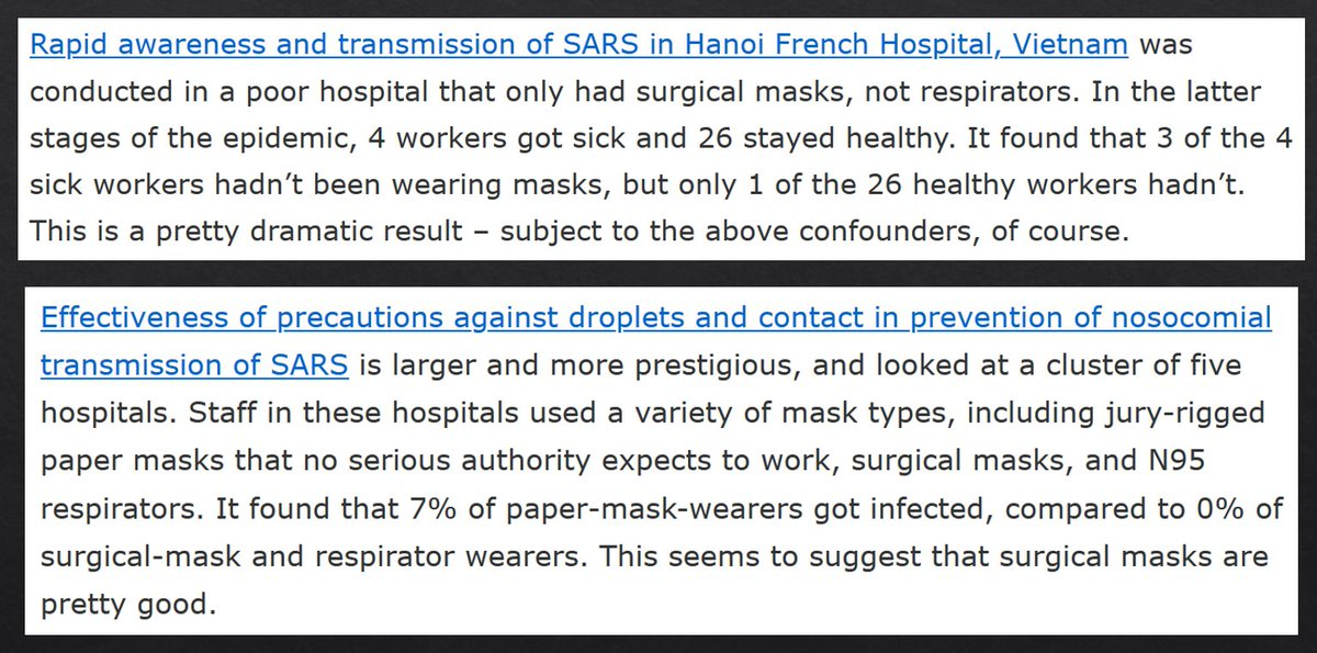 Otherwise, surgical masks are really useful, even in a hospital setting.