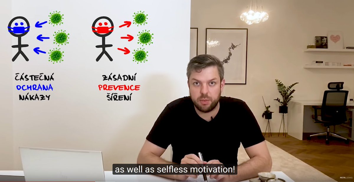 The person who really kicked off  #masks4all in Czech Republic was  @PetrLudwig with his powerful and compelling video. A key part of his message: wearing a mask is a selfless, pro-social behavior