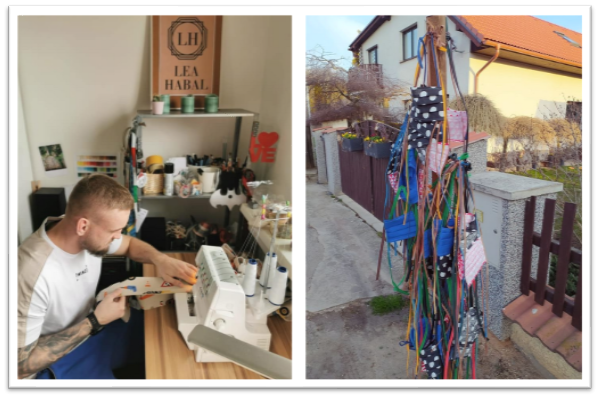 """The community response in Czech Republic was amazing. People made their own masks at home, and then hung them on """"mask trees"""" for anyone in their community to use. Such kindness!"""