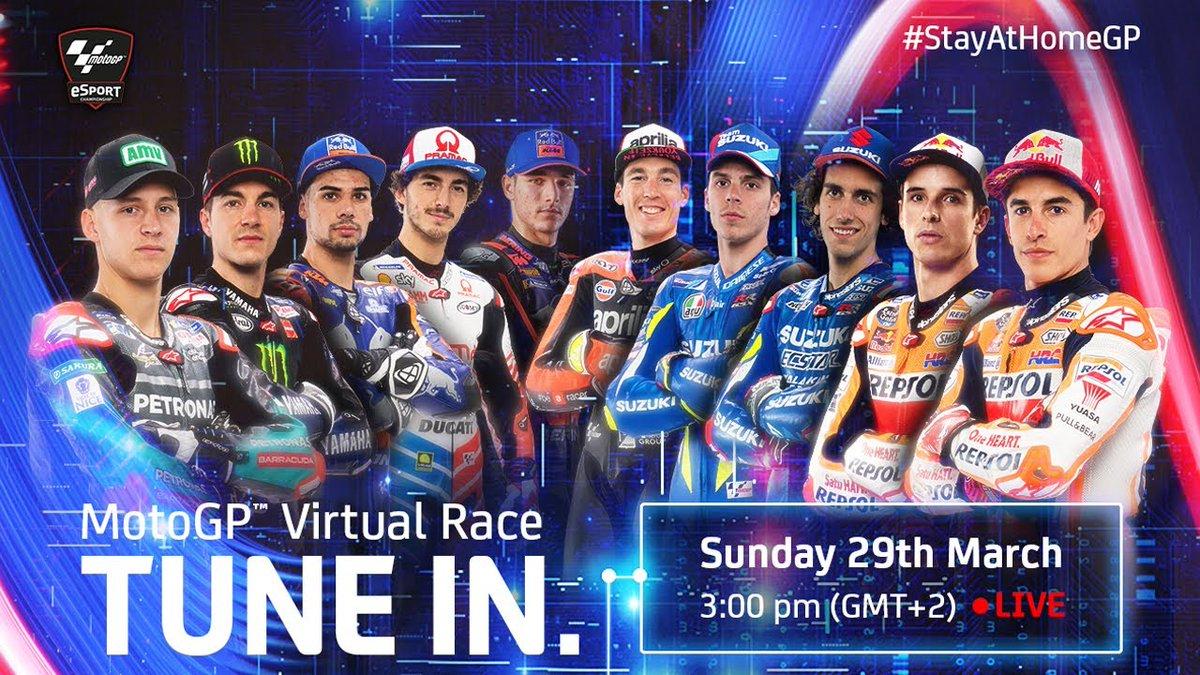 Olá a todos! Domingo vou estar a competir na primeira #MotoGP virtual Race! 🎮 #GPFiquemEmCasa . . . Hi guys! Make sure to tune in sunday on the First ever #MotoGP virtual race! 🎮 #StayAtHomeGP 🏡 @MotoGP