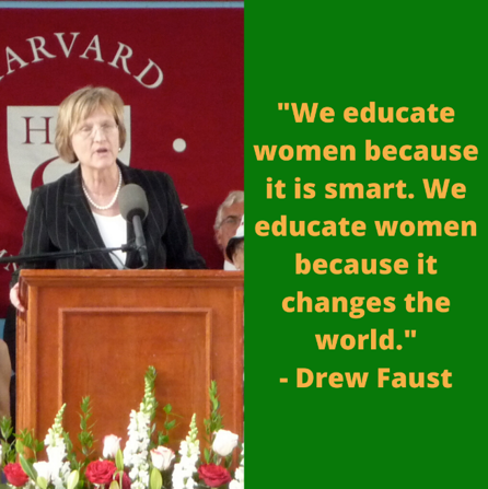 Our #Wednesday #quote for #womenshistorymonth, is by #DrewFaust, who encourages #women to be #smart and #change the world.  #IgniteHerLight #RaziasRayofHope #RaziaJan #education #equaleducation #girlseducation #genderequality #genderparity #bethechange #smartgirls  JUST NOW pic.twitter.com/Oojf9NAnPr