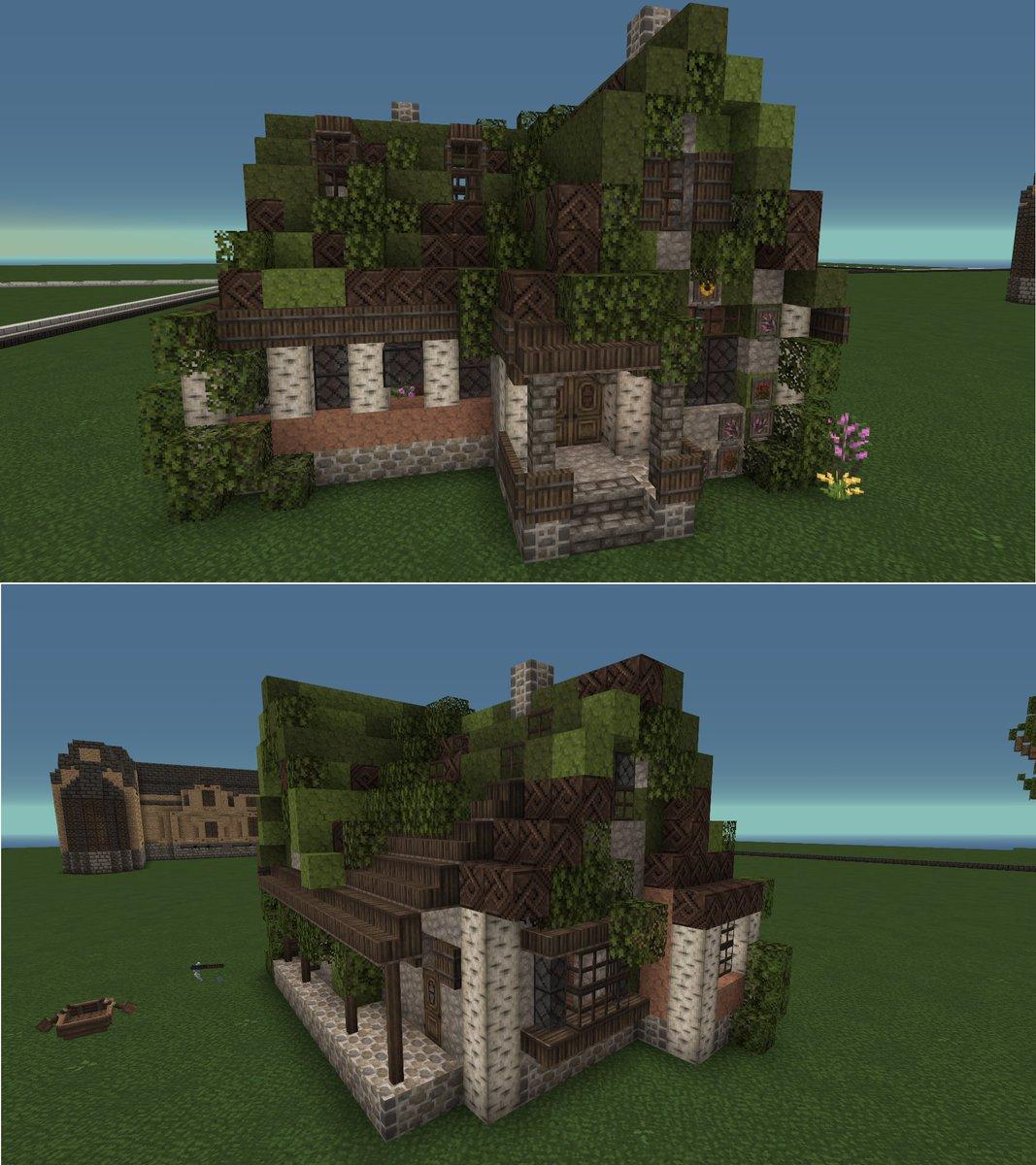 Little mossy cottage loosely based on a certain Studio Ghibli film~ #Minecraft #minecraftbuilds #videogamespic.twitter.com/MoscEztJMj