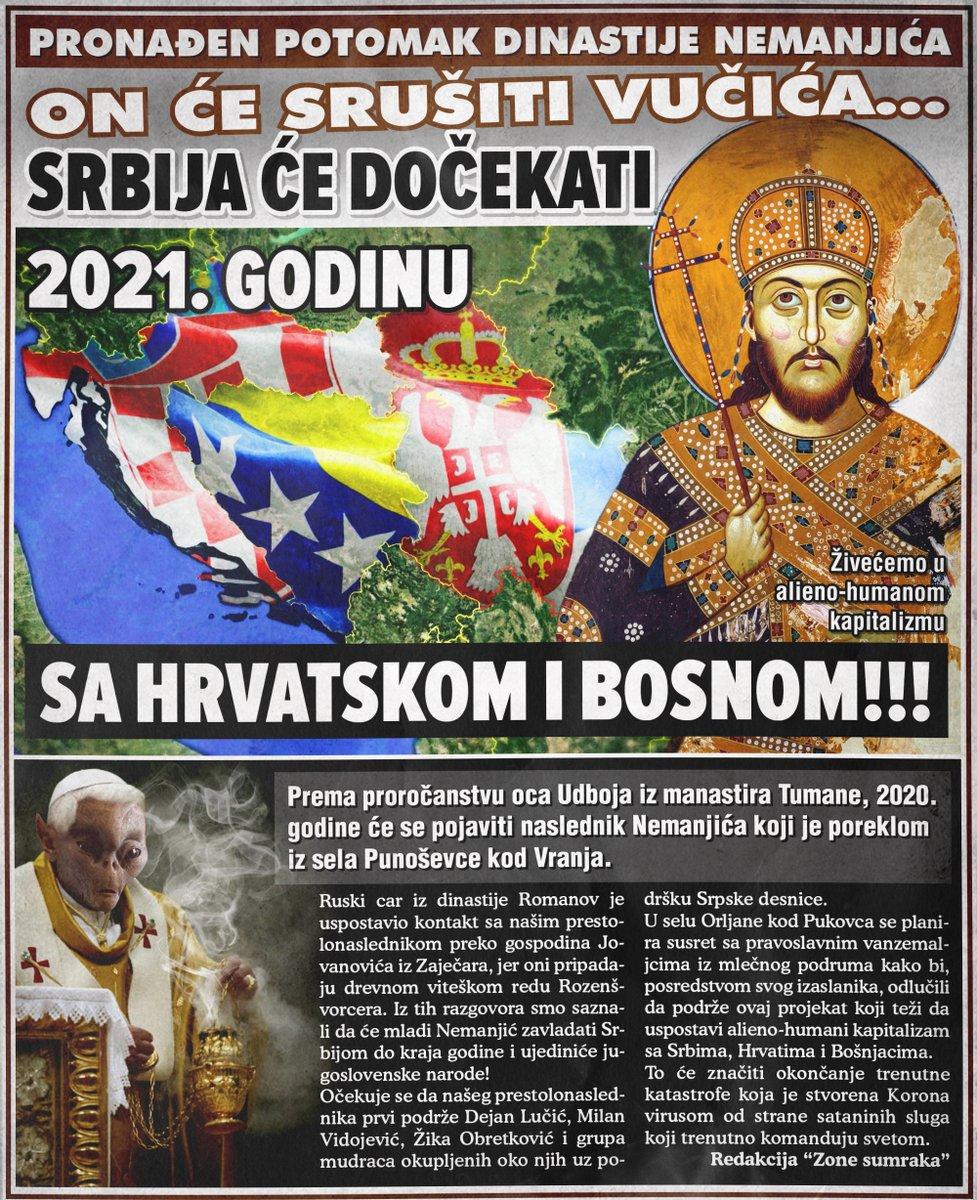 Srbija će se 2021. ujediniti sa Bosnom i Hrvatskom