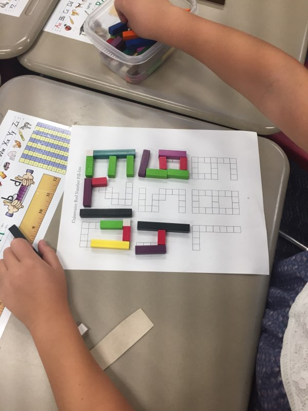 Using cuisenaire rods to build numbers! Can you build them with as few rods as possible? #MATHMONDAY #firstgrade #mathcanbefunpic.twitter.com/94X6pOqN38