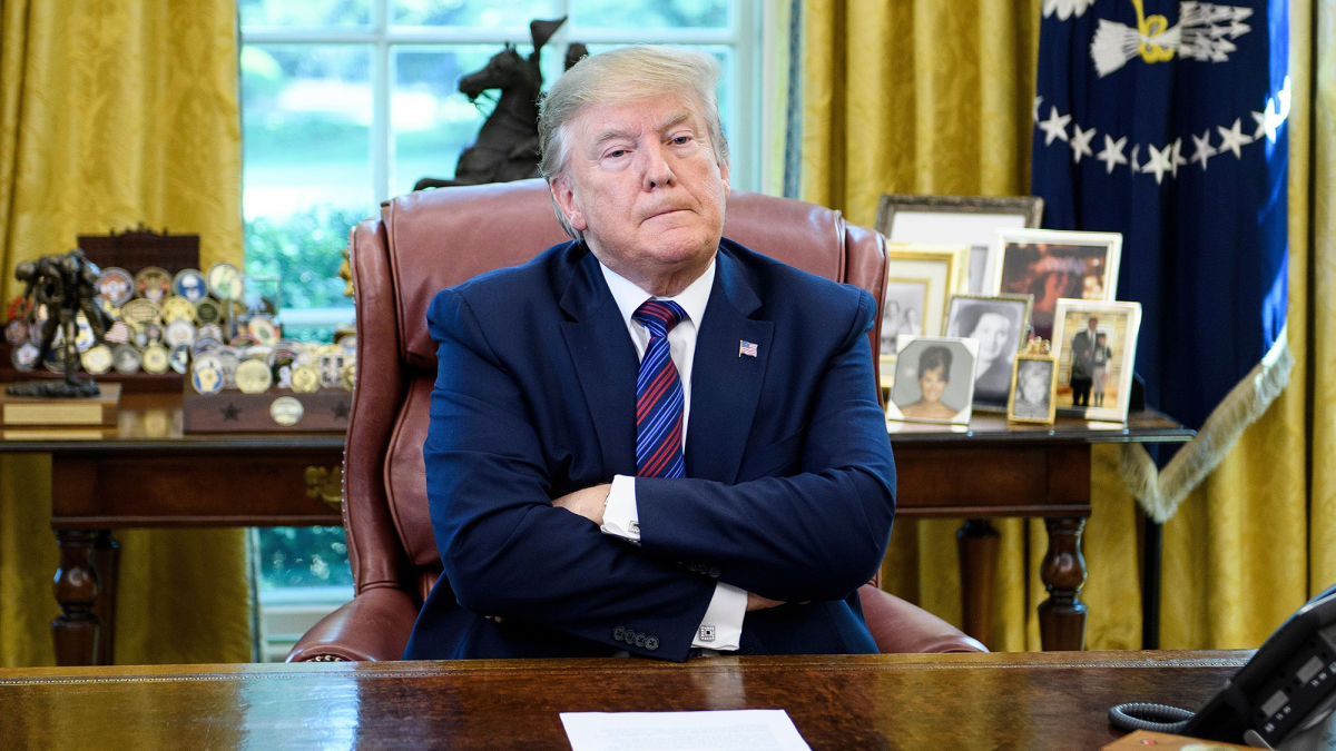 Restless Trump Can't Believe He Stuck Inside With Nothing To Do But Be President https://t.co/8ylAiICzqD https://t.co/5MxCPNafmt