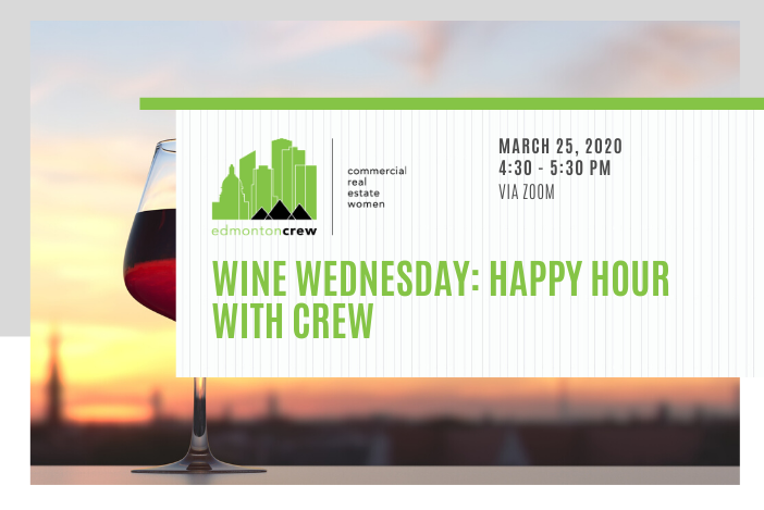 Join @EdmontonCREW for #winewednesday this week from the comfort of your own home! Members, the link to register along with more information about this event were delivered straight to your inbox. We can't wait to connect with you soon!  #edmontoncrew #crewevents #CREWoverCOVIDpic.twitter.com/WWuCBjVKeD