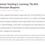 Image for the Tweet beginning: Remote Teaching & Learning; The