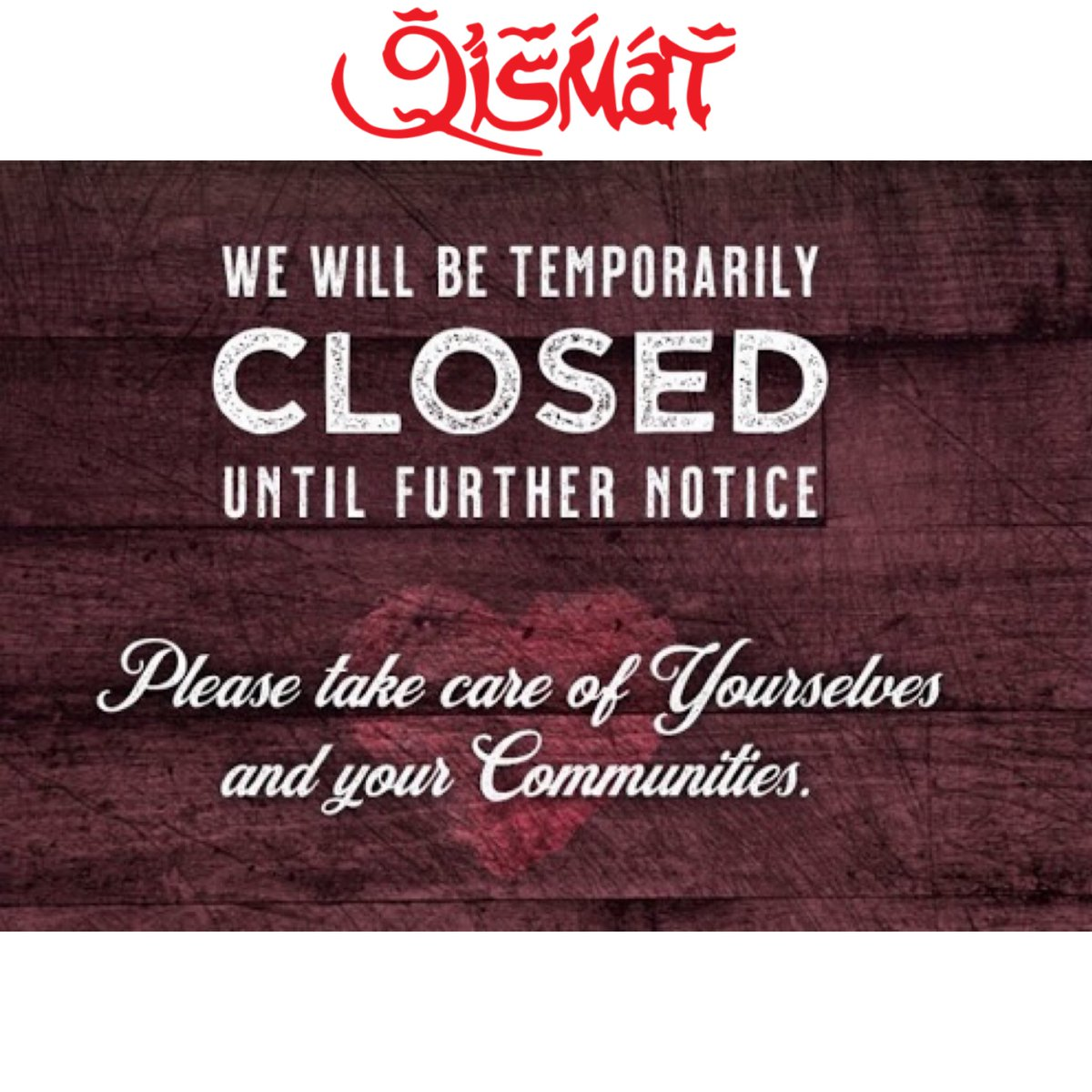We fully understand the need to play our part in defeating the spread of Covid19 and the safety of our staff and customers is of course of paramount importance. Therefore we have come to the difficult decision to close our restaurant temporarily as of 8:30pm (tonight) 23rd March https://t.co/WqWklwBcgi