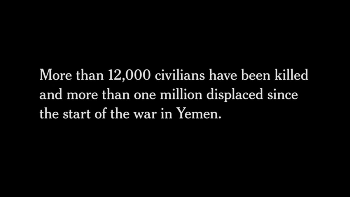"""More than 12,000 civilians have been killed ... since the start of the war in #Yemen.""  Important investigation from @TheWeekly into the arms trade fueling the #YemenWar, citing @ACLEDINFO data on the human toll.  Watch: https://t.co/M2LqhVsnaz #TheWeeklyNYT https://t.co/Nk2DMuYqRf"