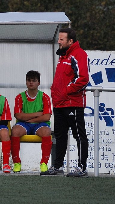 ADR Numancia de Ares. Eloy y  Dani Espiñeira entrenadores de cadetes.