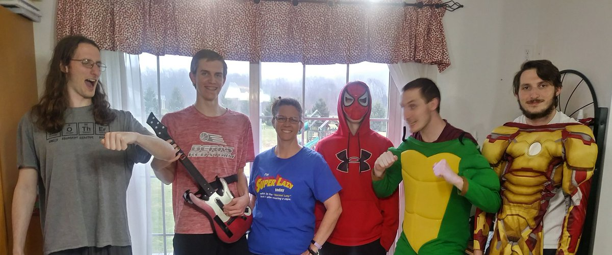 Super Contagious, Guitar Hero, Super Lazy, Spiderman, TMNT, and Iron Man #BHASDstrong