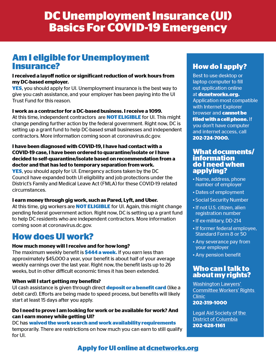 Council Of Dc On Twitter In Regards To Unemployment Insurance