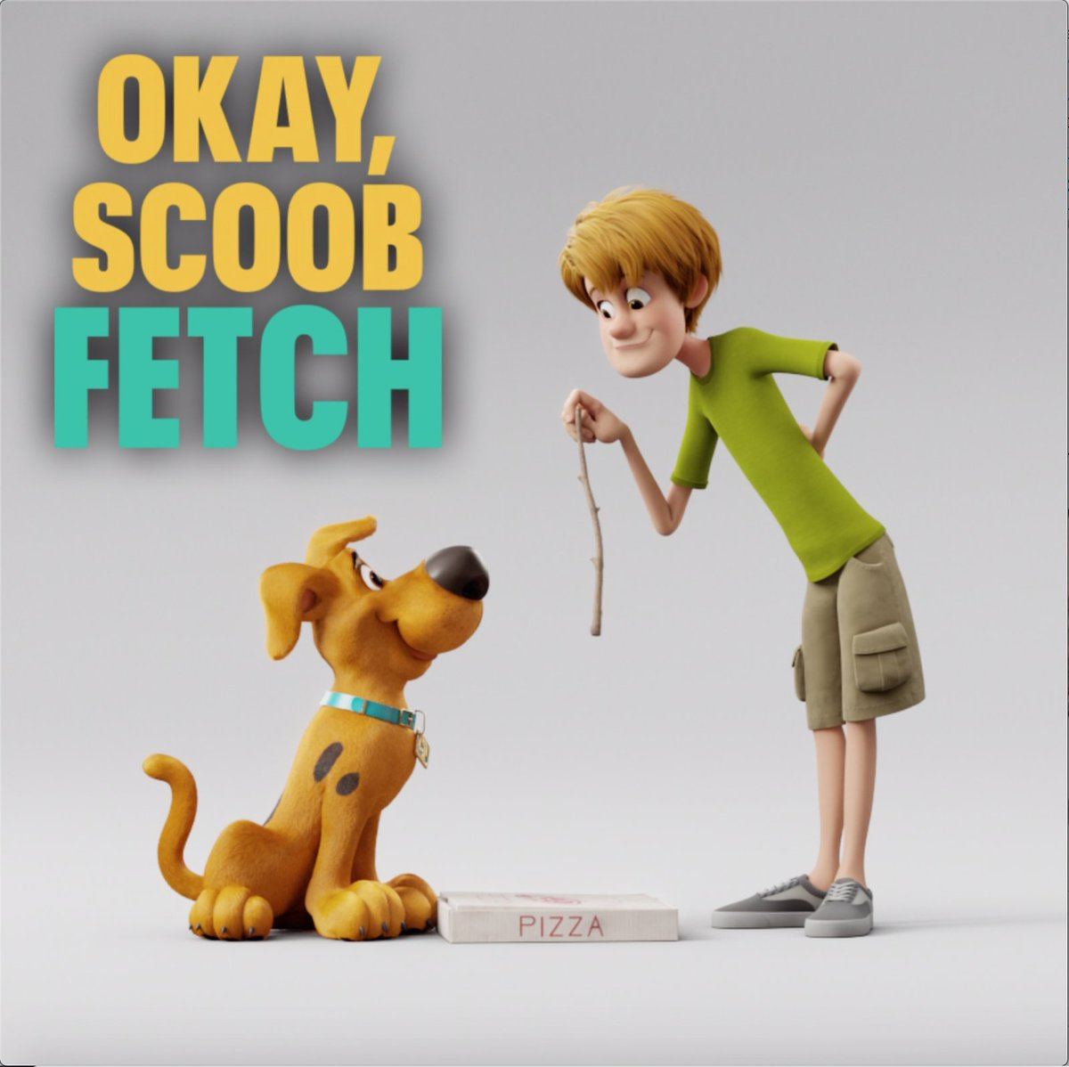 Replying to @scoob: Stop trying to make fetch happen 😉#NationalPuppyDay #SCOOB