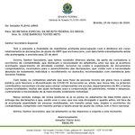 Image for the Tweet beginning: Manifestei preocupação à Receita Federal