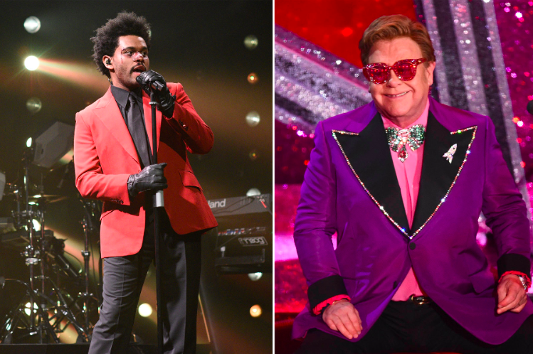 """""""I'm so blown away just to be part of his record."""" Elton John Praises the Weeknd in the midst of self-quarantine https://rol.st/33EQdWF"""