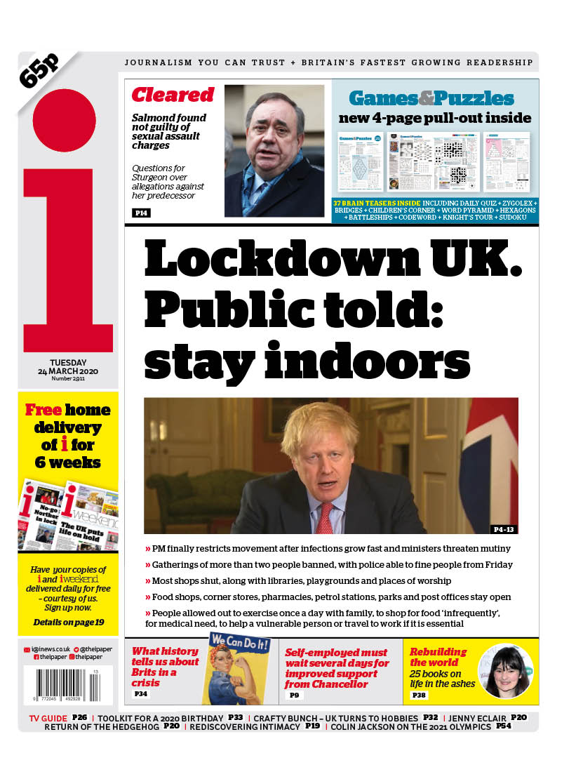 A National Emergency What The Papers Say About The Uk S Coronavirus Lockdown World News The Guardian
