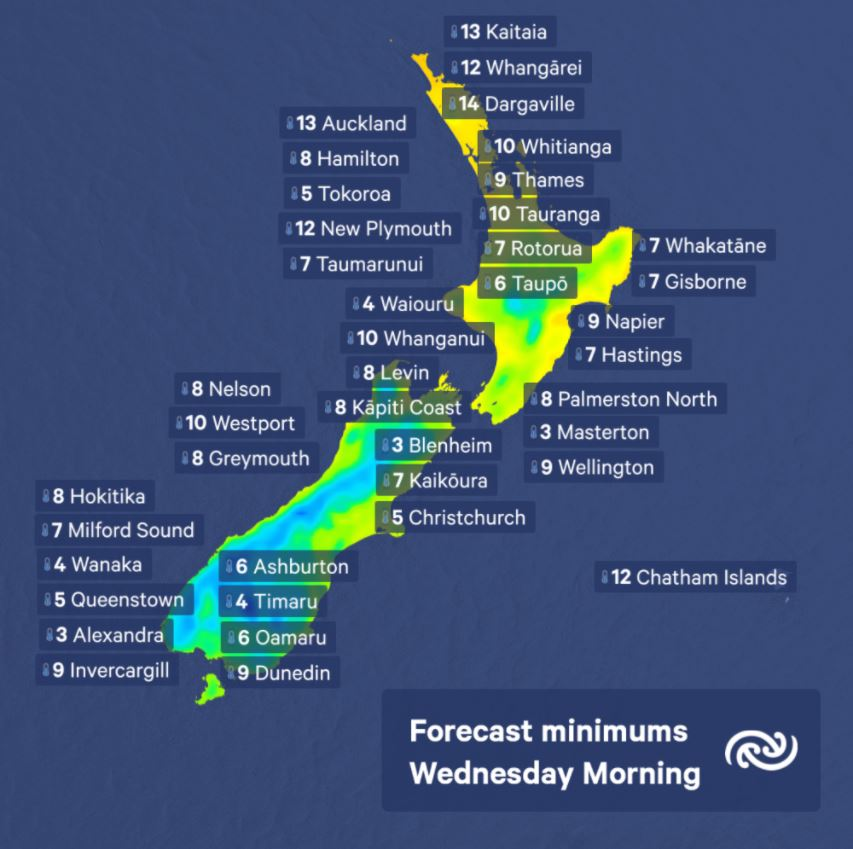 Chilly start for many places again tomorrow morning, with even colder air arriving later in the week! ^AH https://t.co/C4e0UaUMC1