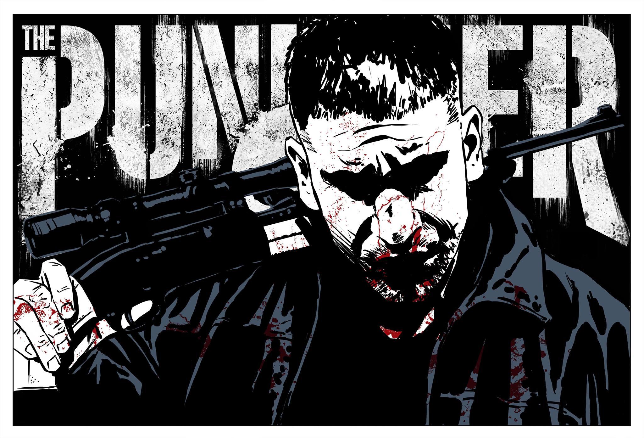 Creatieve wallpaper van The Punisher S2
