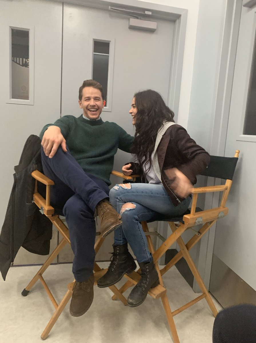 all laughs on set with the best tv dad. love u @JoshDallas 💙 new #manifest tonight at 10 on @nbc!!