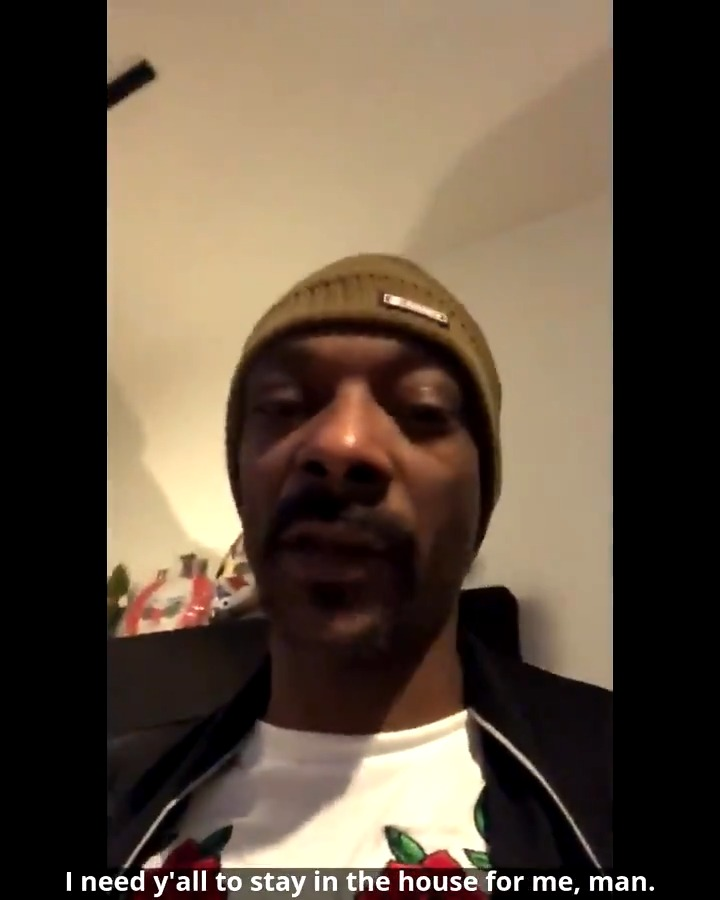 Listen to @SnoopDogg. #StayHomeSaveLives