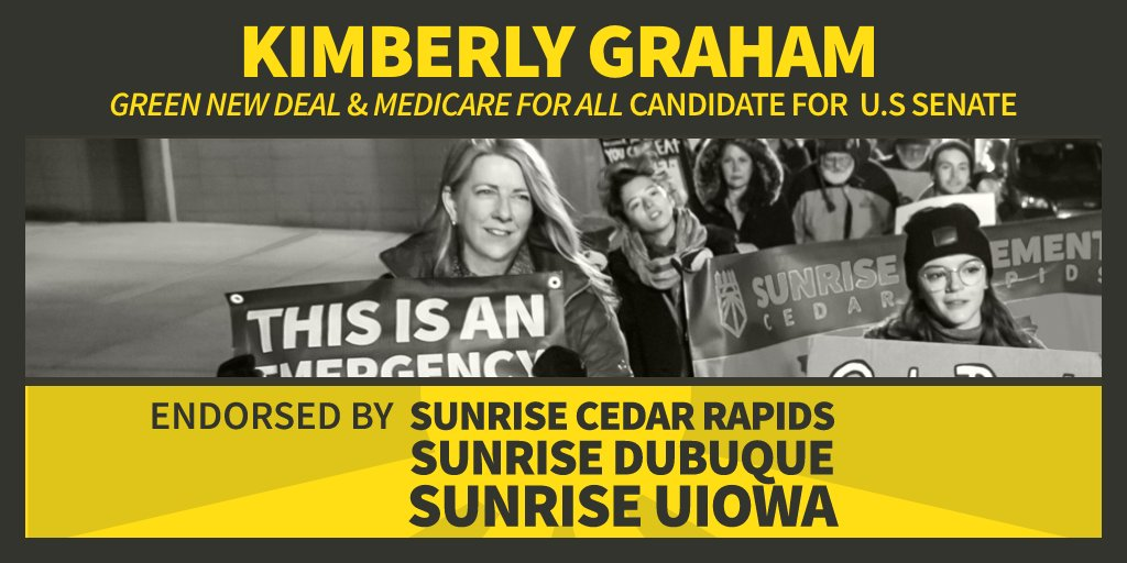 I was just endorsed by Sunrise UIowa!