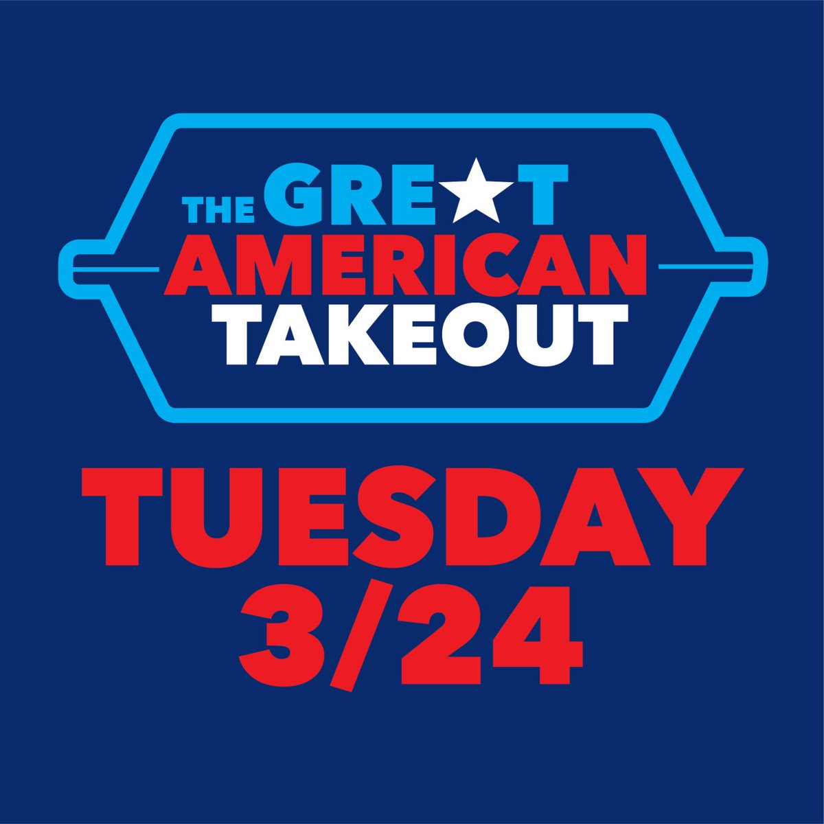 Support our local restaurant industry by joining #TheGreatAmericanTakeout and eating a delivery or pick-up meal on Tuesday, March 24. (And feel free to order takeout tonight, too!) https://t.co/EnhAvCQQMW