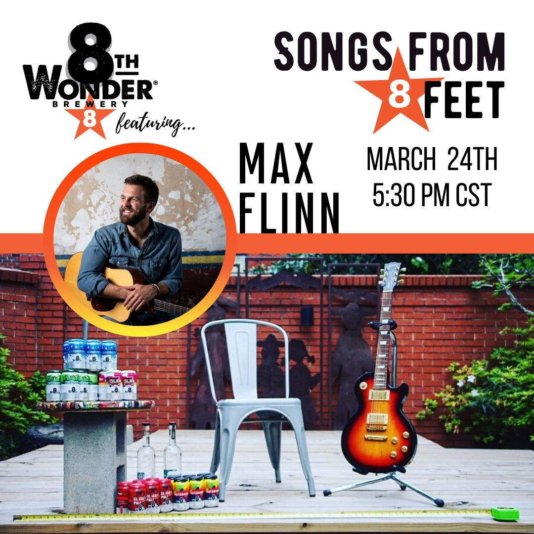 Songs From 8 Feet tomorrow featuring Max Flinn. Tune in on FB/IG and enjoy the show!