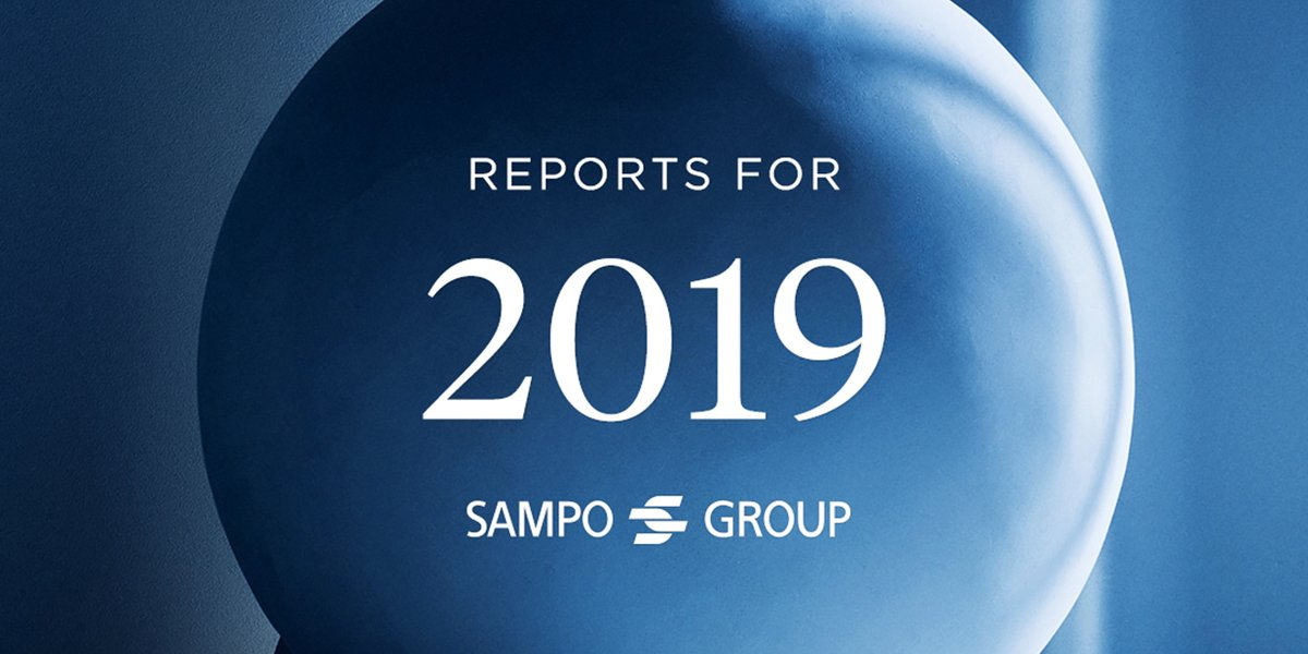 Sampo Group has published its Board of Directors' Report and Financial Statements for 2019 at sampo.com/year2019