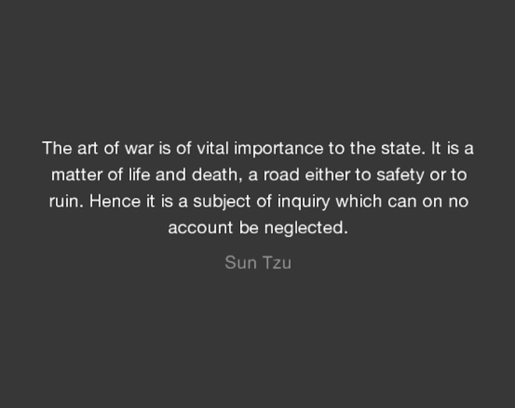 Image result for the art of war matter of life and death sun tzu