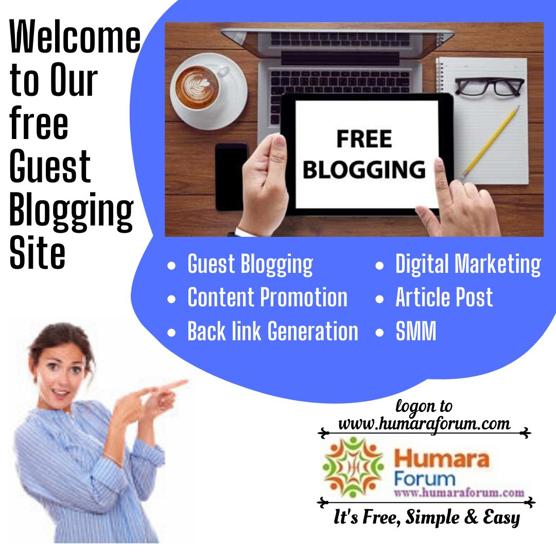 Humara forum empowers #Digital #marketers with free #SMM platform 2 #promote #contents, #generate #backlinks of their client's website as #guest #blogger. Just signup & #post unlimited #free #blogs  #SEO #googleanalytics #socialmedia #indianbloggers #digitalmarketingpic.twitter.com/bmXYd2fWdJ