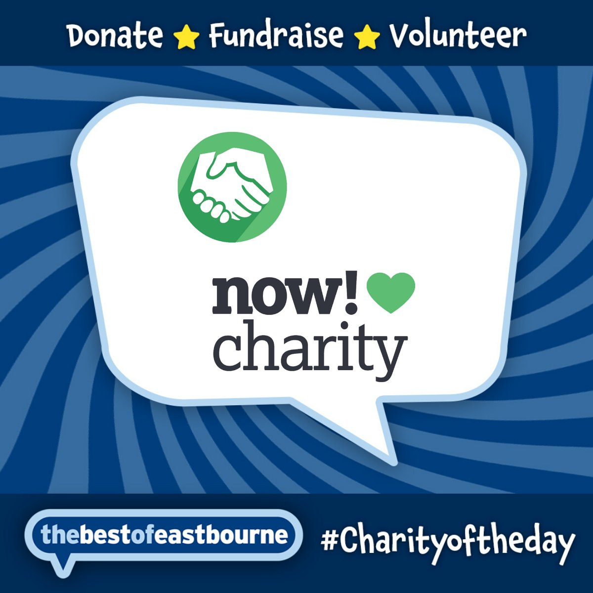 Today our #CharityOfTheDay  is @Now_Charity   https://j.mp/2WOB3dn    Show them support by helping in any way you can but at the very least give them a LIKE and SHARE on their posts!  #BestOfEastbourne  | #BestOfSussex  | #SupportLocal