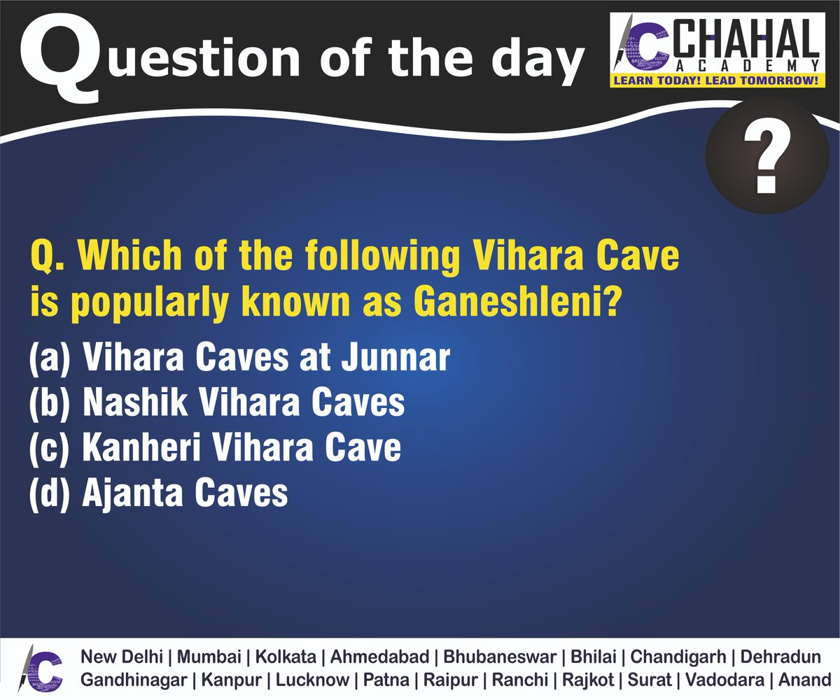 Question of the Day  Answer - A  #24thMarch2020 #Questionoftheday #UPSC2020 #IPS #IBPS #governmentexam #Currentaffairs #iasquestion #UPSCQuestion2020 #dailyquiz #coachinginstitute #iascoachingcenter #IASquestions #civilserviceexam  Visit:- http://chahalacademy.compic.twitter.com/BCAKZQii2u
