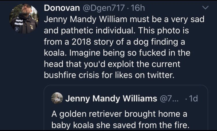 Yes, Donovan. Imagine being that fucked in the head. 😂😂😂😂