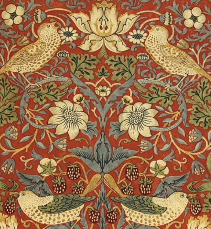 """Have nothing in your house that you do not know to be useful, or believe to be beautiful.""  #WilliamMorris, textile #designer, born 24th March 1834, in Essex.  Strawberry Thief, first printed in 1883. #Victorian #art #StayAtHomeSaveLives #staysafepic.twitter.com/xST1N84FQ7"