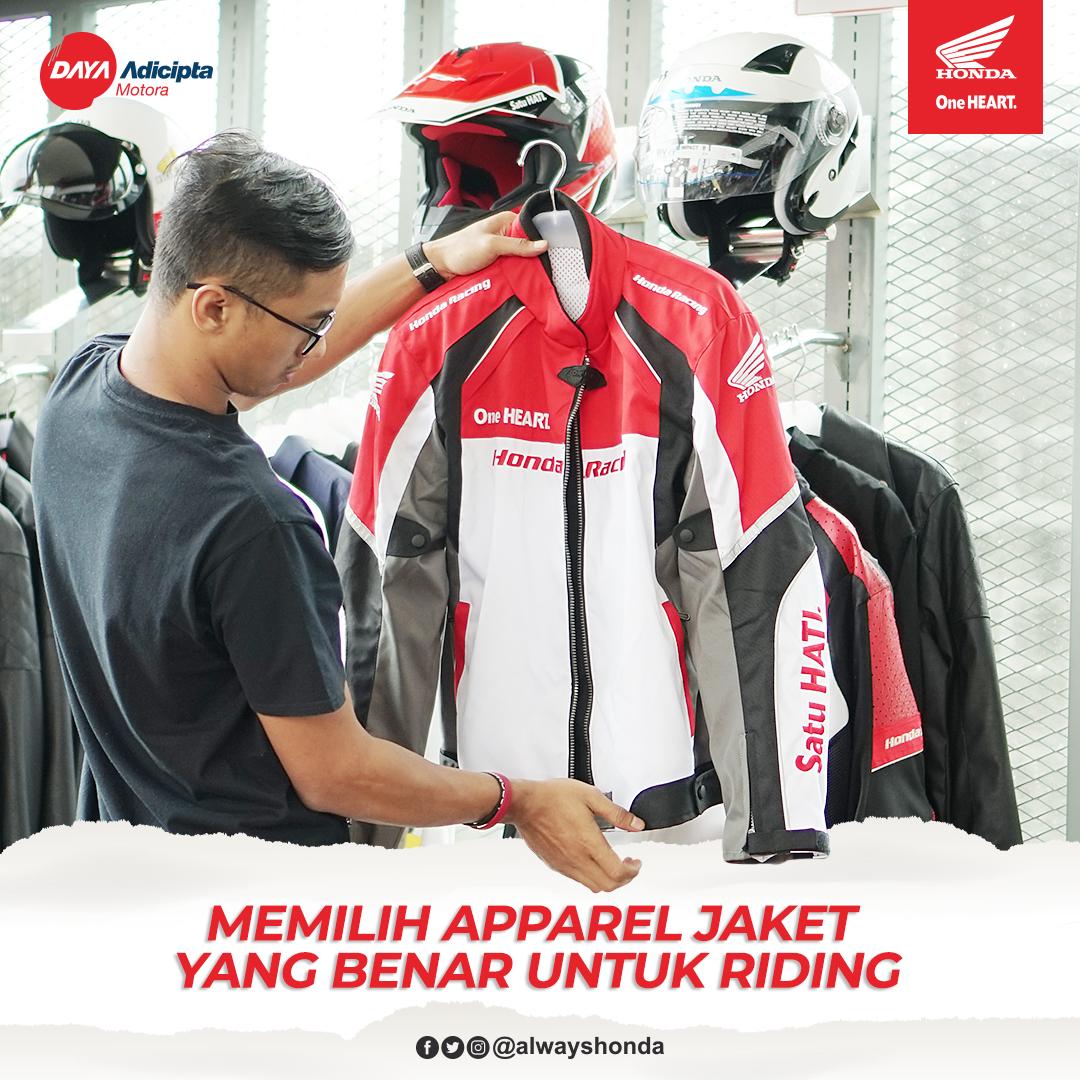 Jaket adalah salah satu perangkat safety yang wajib digunakan oleh bikers. Fungsinya bukan hanya untuk melindungi badan ketika terjadi insiden kecelakaan, tapi juga untuk melindungi tubuh dari sengatan matahari dan angin. #Cari_Aman #AlwaysHGApic.twitter.com/OXrv7icL2Q