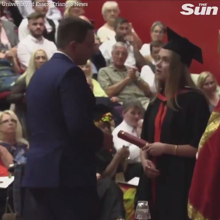From graduate to fiancé in less than a minute