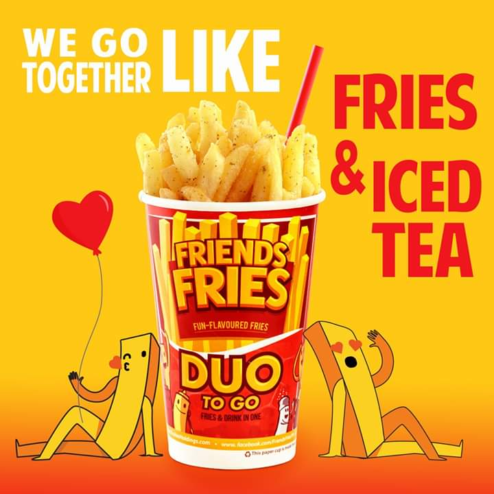 We go together like fries and iced tea! <3  #FriendsFriesPH #VDay #Valentines #ValentinesDaypic.twitter.com/jG2Qefednf