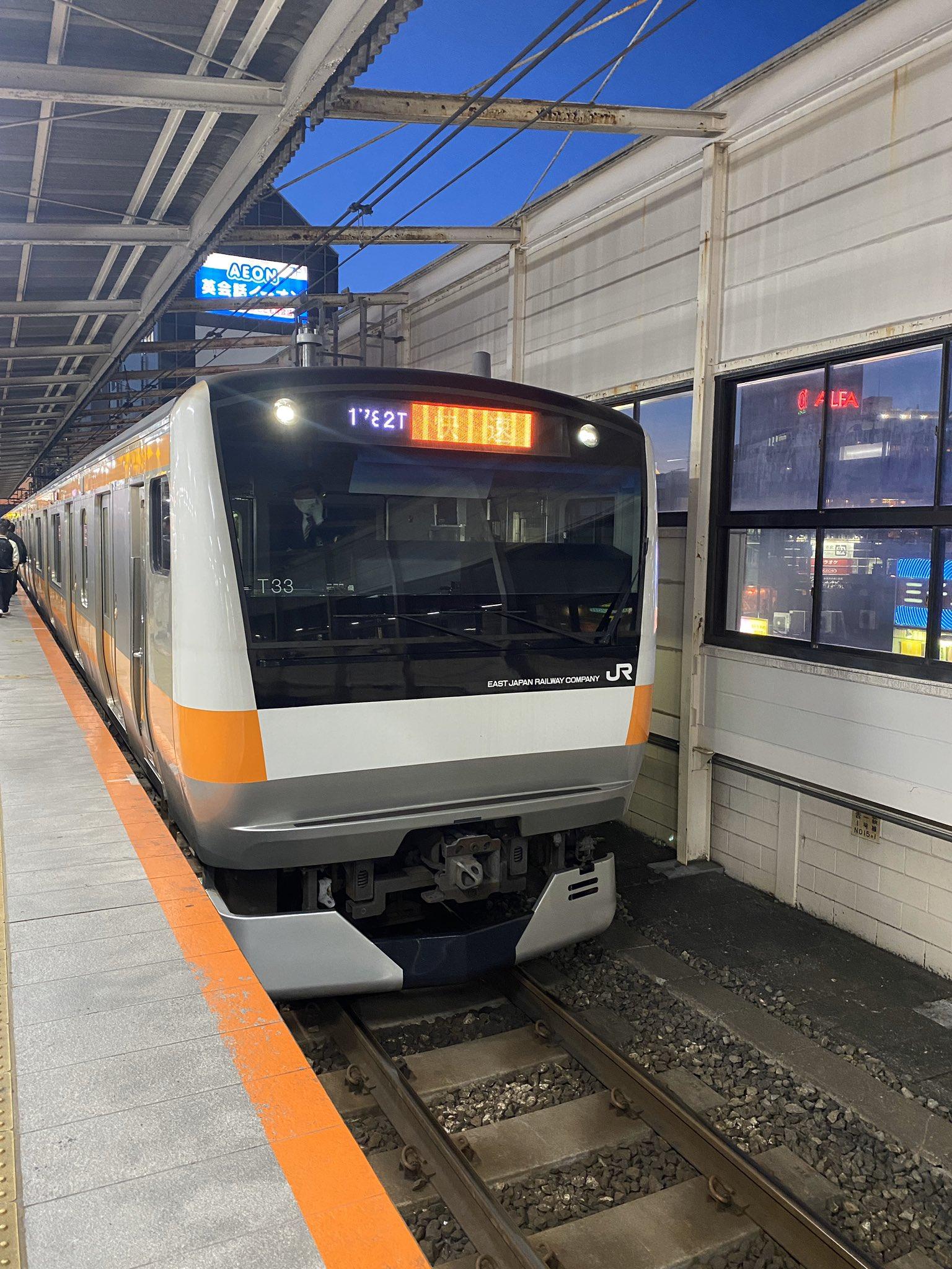 吉祥寺駅の人身事故の当該列車の画像