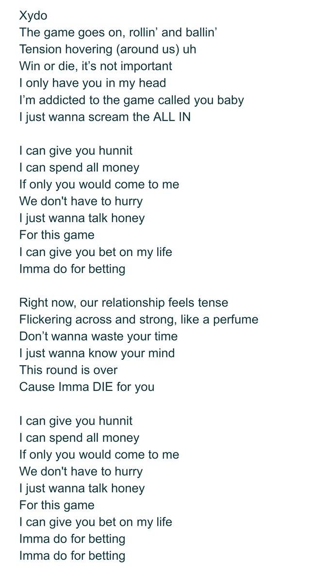 bet it on black lyrics