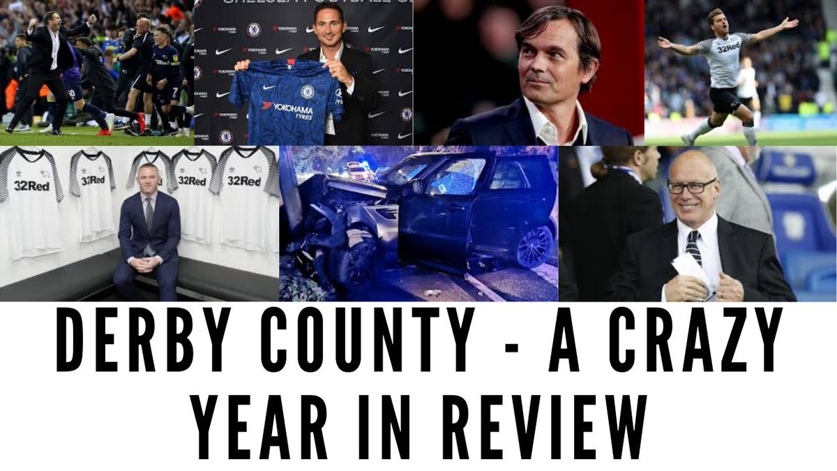 ⚽️ Derby County - A Crazy Year In Review 😱 Elland Road 👋 Lampard out, Cocu in ⭐️ Rooney 🚗 Keogh, Lawrence & Bennett 💰 FFP Charge 🗣 I chat over an eventful year at #DCFC with @JustinPeach27 from @TheSecondTier 🎥 Up @ 1030 - youtu.be/__em1Lxuux8 #dcfcfans #EFL #Derby