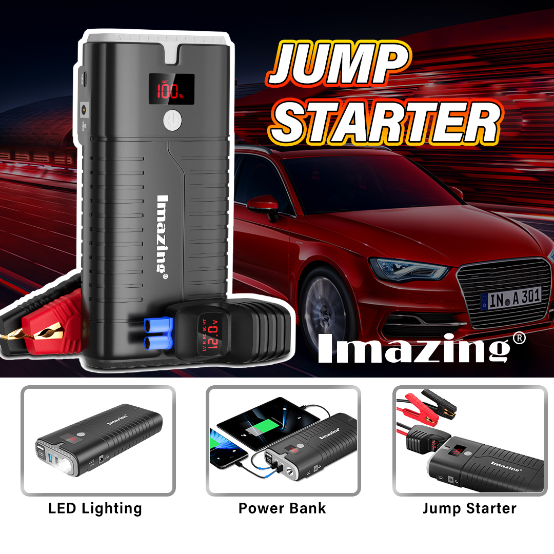 Free shipping (FBA) in 2-5 days for US only. Millions of American drivers' choice.  Imazing IM27 Jumper Kit & Emergency Power Bank.  . . . . . . . . . . . #powerbank #car #truck #imazingpower #jumpstarter #batterybackup #batterycharger #batterypack #jumperkit #emergencypowerpic.twitter.com/kwVdu12Xh3